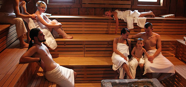 Sauna at NaturThermeTemplin (Gallery Sauna)